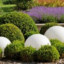 détail du jardin paysager