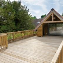 La terrasse de la maison des enfants